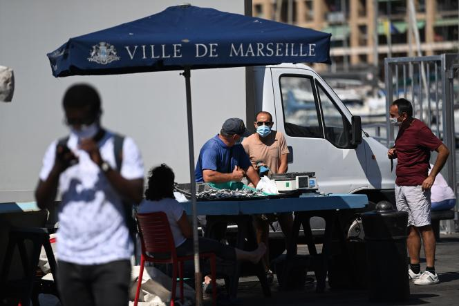 Le Vieux port de Marseille, le 26 août.