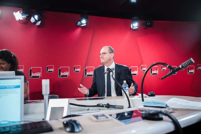 Jean Castex dans le studio de France Inter, mercredi 26 août 2020.