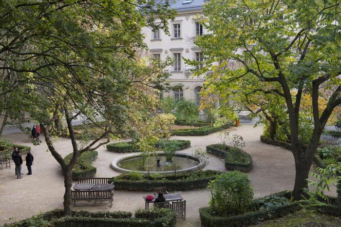 La «cour aux Ernest» de l'Ecole normale supérieure de la rue d'Ulm, dans le 5earrondissement de Paris.