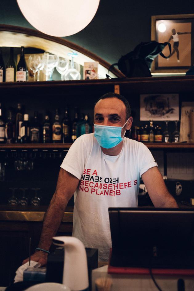 Julien Leonetti, patron du restaurant La Cantinetta à Marseille, le 26 août.