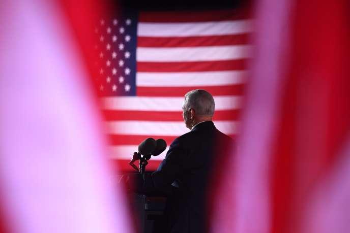 Le vice-président américain, Mike Pence, lors de la troisième soirée de la convention républicaine à Baltimore (Maryland), le 26 août.