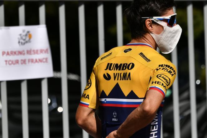 Primoz Roglic, coureur cycliste slovène de l'équipe Jumbo-Visma, le 27 août à Nice.