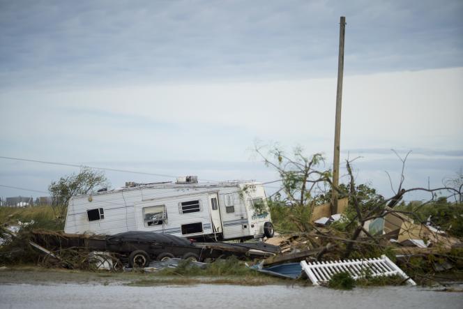 Après le passage de l'ouragan Laura, le 27 août, en Louisiane.