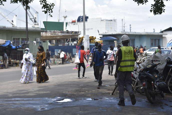 L'une des entrées du port autonome de Dakar, fin août 2020.