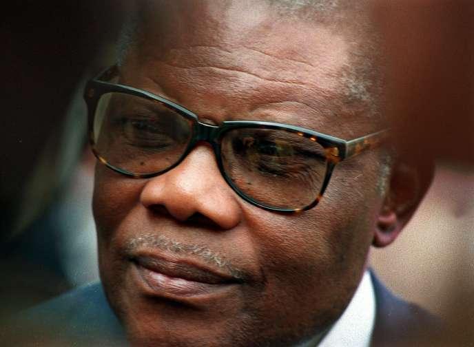 L'ancien président congolais Pascal Lissouba, à Paris, en mars 1994.