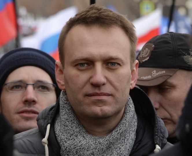 Alexeï Navalny en juin 2017, lors d'une marche commémorant le second anniversaire de la mort de l'opposant Boris Nemtsov.