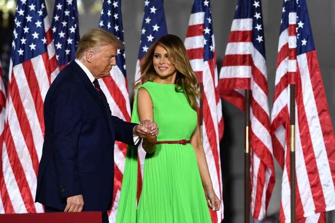 Le président américain, Donald Trump, et sa femme, Melania Trump, à la Maison Blanche, à Washington, DC, le 27août.