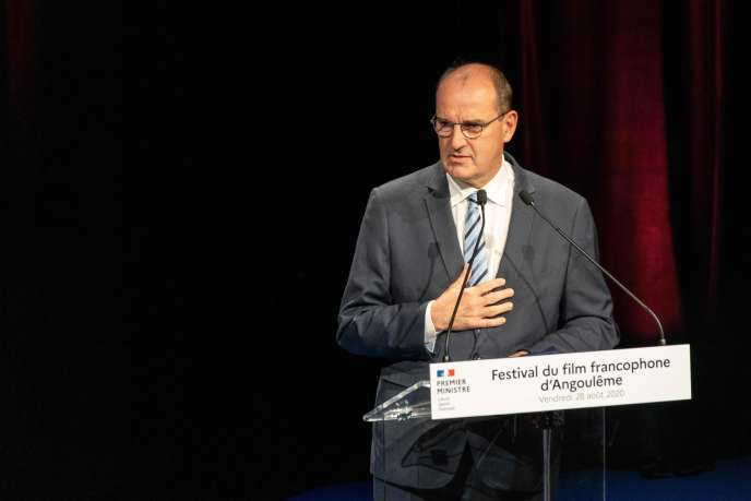 Jean Castex, le 28 août, à Angoulême.