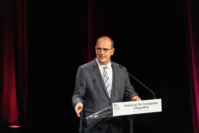 Le premier ministre, Jean Castex, à l'ouverture du Festival du film francophone d'Angoulême, le 28 août.