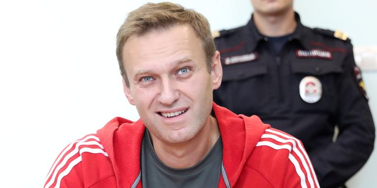 FILE PHOTO: Russian opposition leader Alexei Navalny, who was jailed for 30 days for calling an unauthorised protest, attends a court hearing in Moscow, Russia August 22, 2019. REUTERS/Evgenia Novozhenina/File Photo