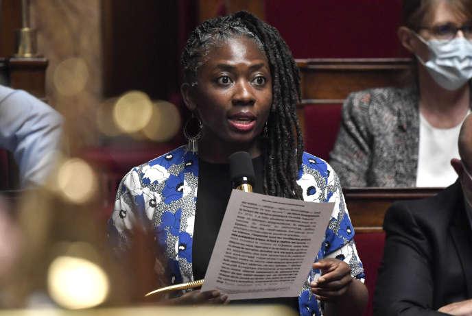 La députée de La France Insoumise (LFI), Danièle Obono, le 28 juillet à l'Assemblée nationale.