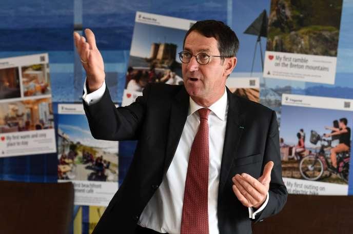 Jean-Marc Roué, président de Brittany Ferries, le 29 juin à Roscoff.
