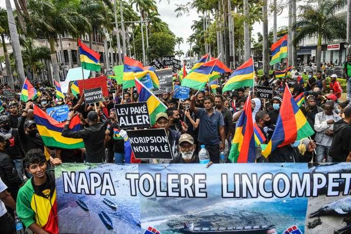 Port-Louis a connu samedi 29 août une manifestation d'une rare ampleur sur l'île Maurice.