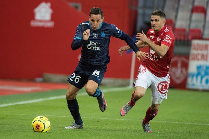 Florian Thauvin a brillé contre Brest.
