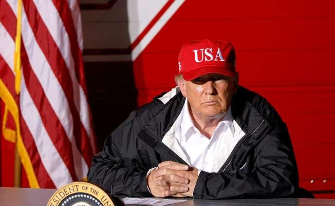 Le président américain, Donald Trump, à Lake Charles (Louisiane), le 29août2020.