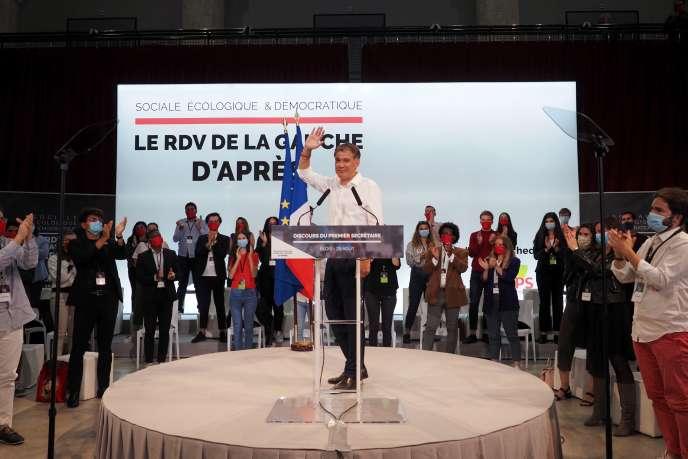 Le premier secrétaire du PS, Olivier Faure, à Blois, le 29 août.