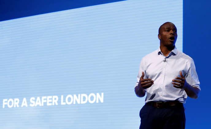 Le candidat conservateur à la mairie de Londres, Shaun Bailey, à Manchester, en octobre 2019.