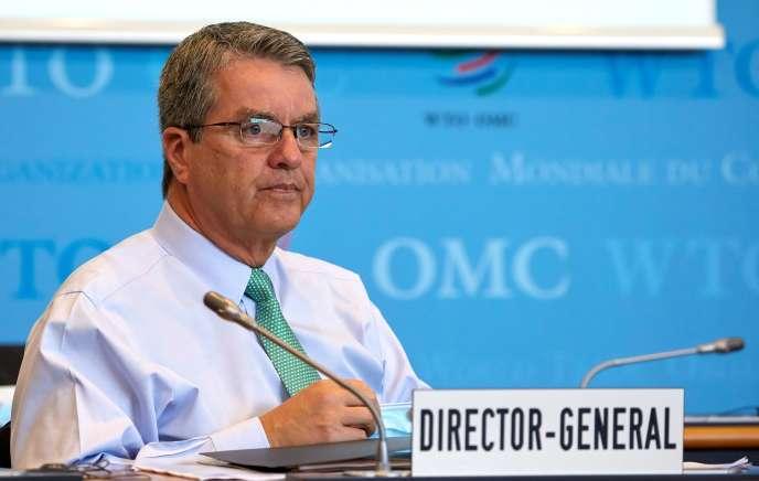 Le directeur général de l'OMC, Roberto Azevêdo, àGenève (Suisse), le 22 juillet.