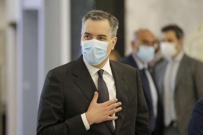 Mustapha Adib, à Baabda (Liban), 31 août 2021.