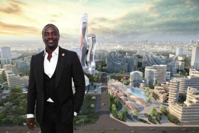 Le rappeur Akon pose la première pierre de la ville futuriste qu'il veut bâtir au Sénégal