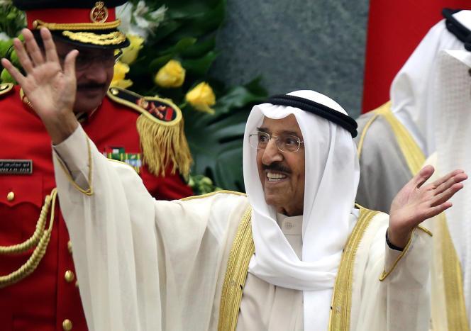 L'émir du Koweït, Sabah Al-Ahmad Al-Jaber Al-Sabah, le 29 octobre 2019, au Parlement.