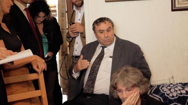 L'historien Benjamin Stora et la fille de Maurice Audin, MichèleAudin, à Bagnolet, en septembre 2018.