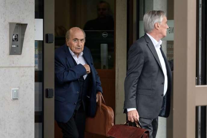 Sepp Blatter, le 1er septembre, à Berne.