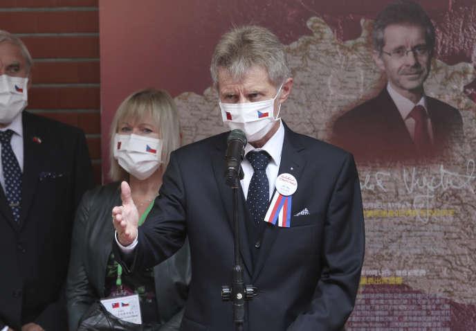 Le président du Sénat tchèque Milos Vystrcil en visite officielle à Taipei le 1er septembre.