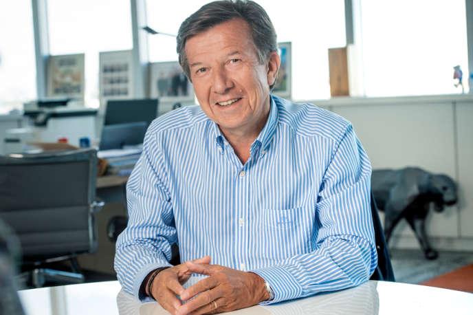 Gilles Pélisson, PDG du Groupe TF1, à Paris, en 2020.