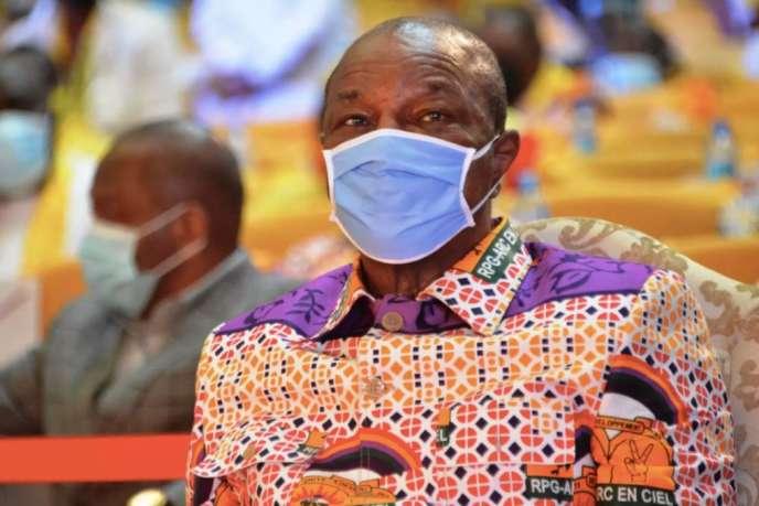 Le chef de l'Etat guinéen Alpha Condé à Conakry, le 6 août 2020.