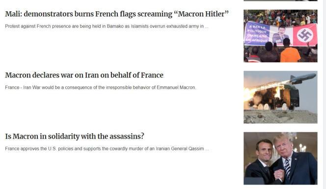 Quelques articles sur la France publiés par le site« Peacedata».