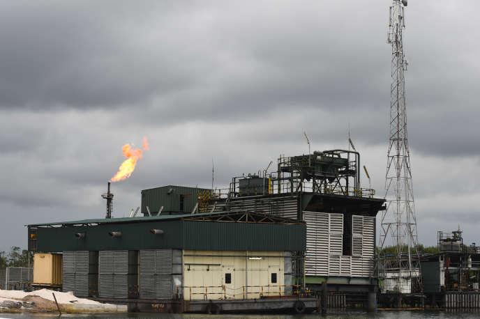 Terminal de la Compagnie nationale pétrolière nigériane (NNPC) dans la région du Delta du Niger, en mars 2018.