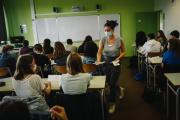 La rentrée au lycée polyvalent Samuel de Champlain à Chennevières-sur-Marne, le 1er septembre.