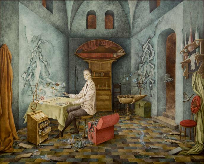 Remedios Varo (1908-1963), « Armonía (Autorretrato sugerente) », huile sur Isorel, 1956, 6,1 millions de dollars, record de vente pour l'artiste.