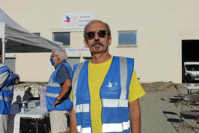 Patrick Hérault, responsable du Secours populaire duTeil.