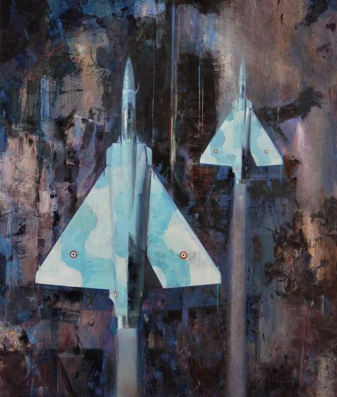 «Mission 2», huile sur toile. Premier prix du 11e Salon officiel des Peintres de l'air (2019).