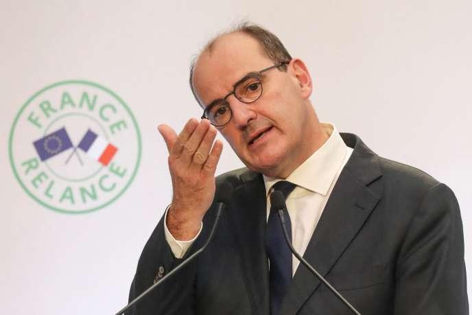 Le premier ministre, Jean Castex, détaille le plan de relance de son gouvernement, jeudi 3 septembre, à Paris.