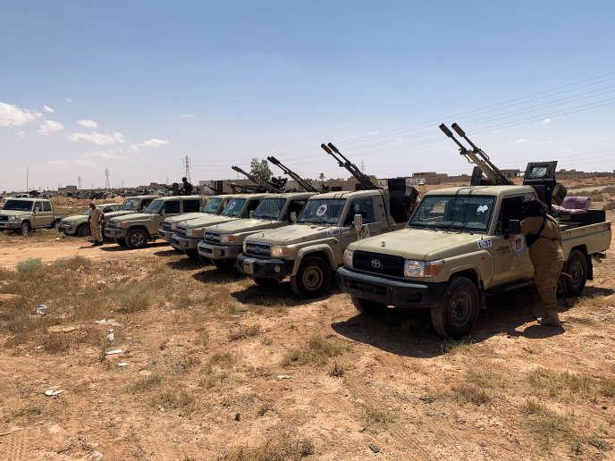 A Misrata, dans l'ouest de la Libye, troupes loyales au Gouvernement d'union nationale (GNA), reconnu par la communauté internationale, le 18 juillet 2020.