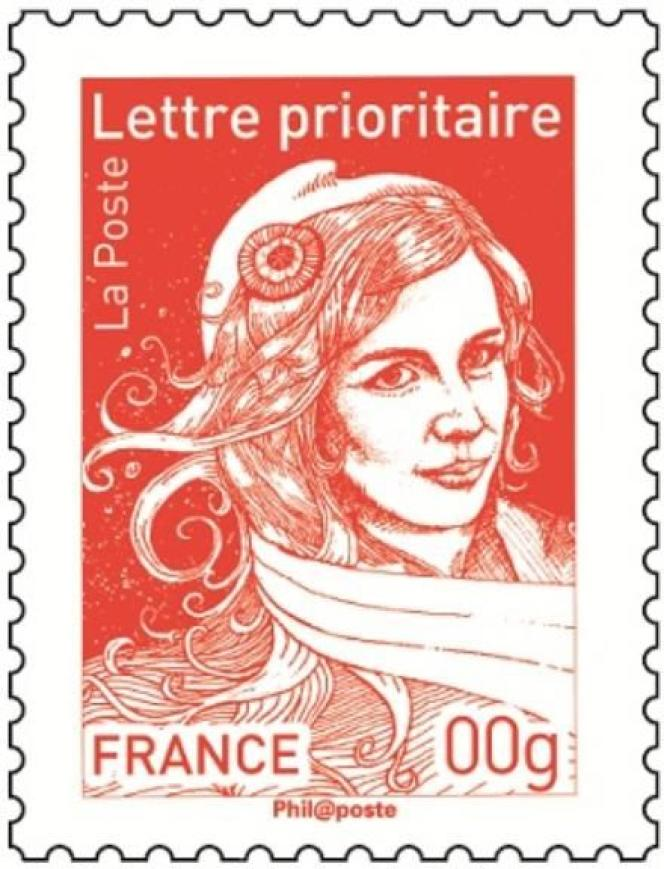 Projet de timbre d'usage courant« Marianne» de Stéphanie Ghinéa (2013).