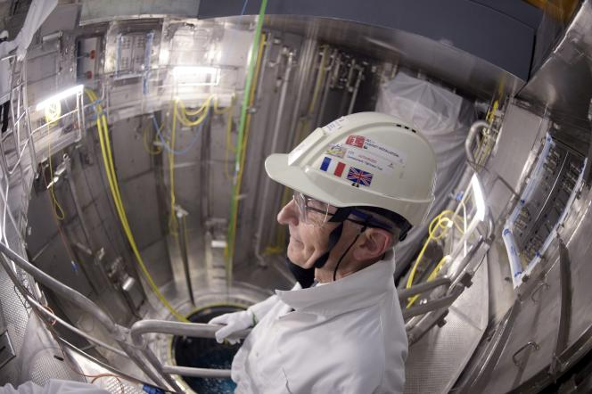 Sur le chantier du réacteur de troisième génération EPR d'Olkiluoto (OL3), en Finlande, en octobre 2016.