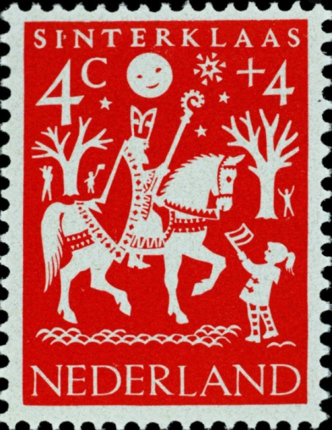 Timbre-poste des Pays-Bas, parHil Bottema (1961).