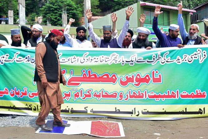 Manifestation à Muzaffarabad, au Pakistan, le 3 septembre.