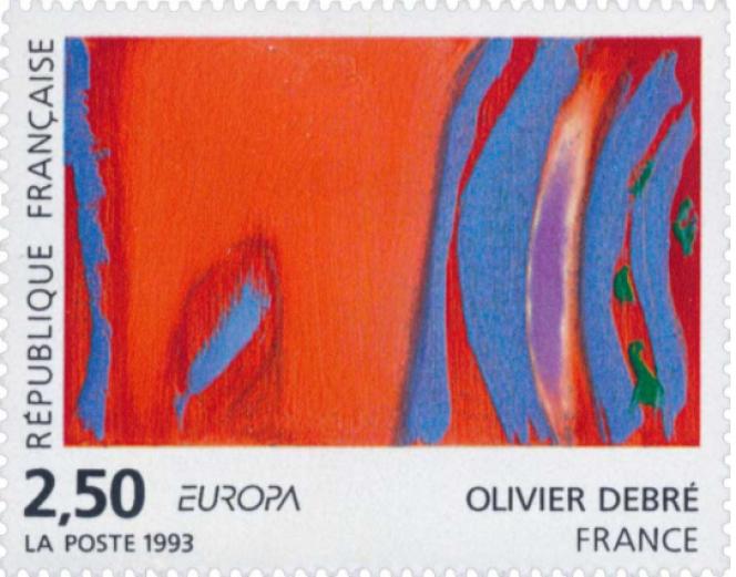 Timbre« Europa», d'après Olivier Debré (1993).