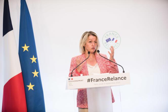 La ministre de la transition écologique, Barbara Pompili, le 3 septembre.