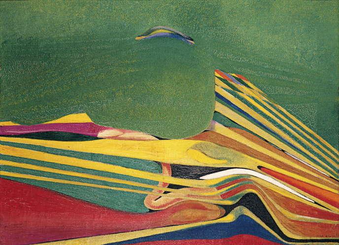 «Paysage au germe de blé» (1935), de Max Ernst, huile sur carton, 60 x 81 cm.