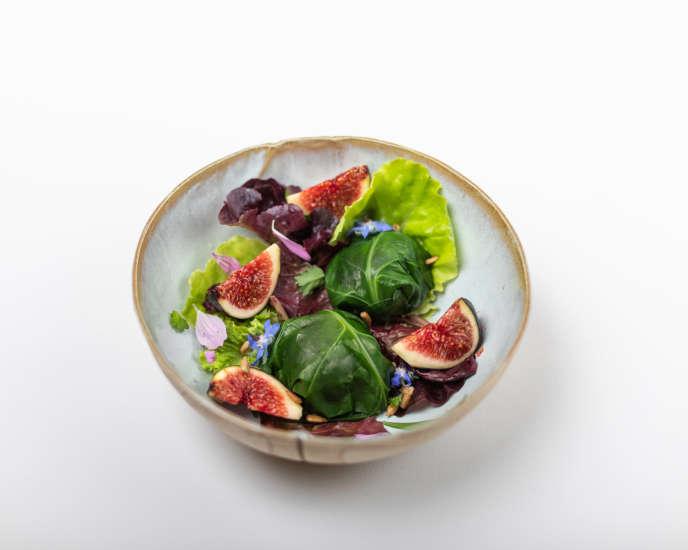 La recette de salade aux figues de Romain Raimbault.