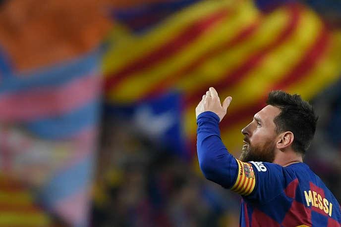 Lionel Messi le 29 octobre 2019 pendant un match du championnat espagnol.