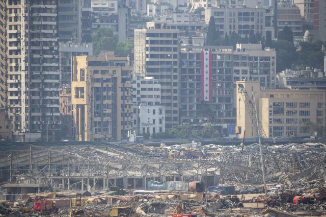 Les décombres duport de Beyrouth, le 1er septembre.