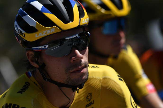 Le Slovène Primoz Roglic, grand favori de cette édition du Tour, mercredi 2 septembre lors de la 5e étape.