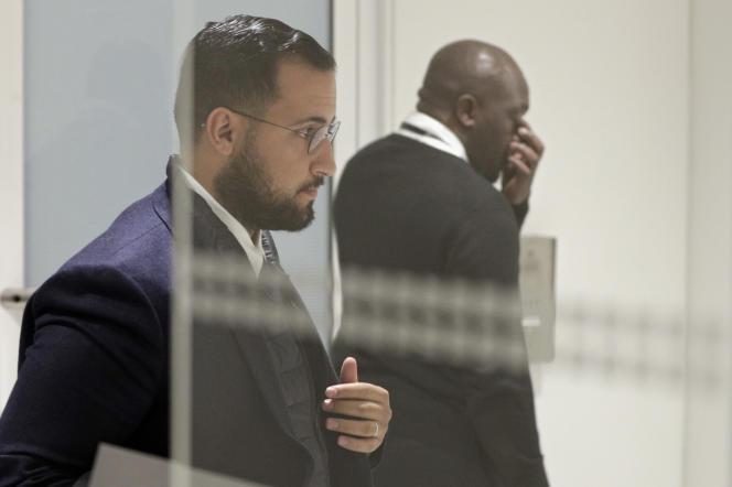 Alexandre Benalla au tribunal de Paris, en février 2019.